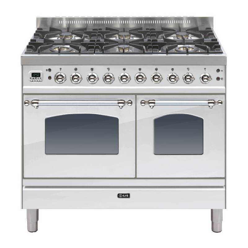 ILVE Mil Dual Fuel 100 Twin 6 Burner S/Steel Chrome primary image