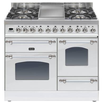 ILVE Milano 100cm XG Range Cooker 4 Burner Fry Top Stainless Steel Chrome - PTN100FE3/IX