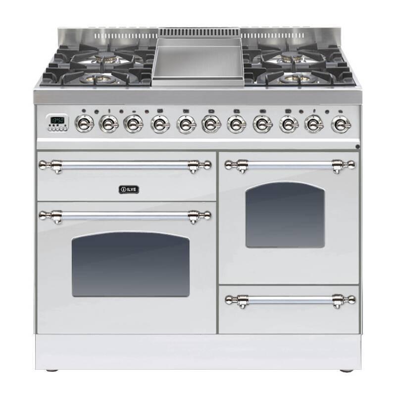 ILVE Milano 100cm XG Range Cooker 4 Burner Fry Top Stainless Steel Chrome - PTN100FE3/IX primary image