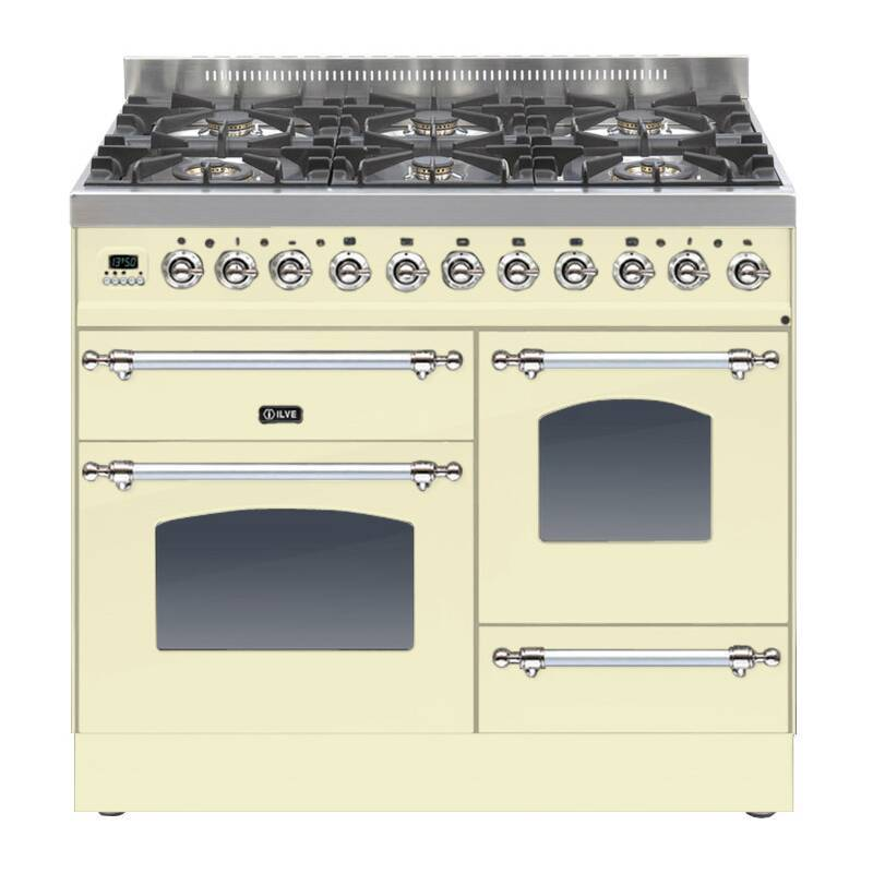 ILVE Milano 100cm XG Range Cooker 6 Burner Cream Chrome - PTN1006E3/AX primary image