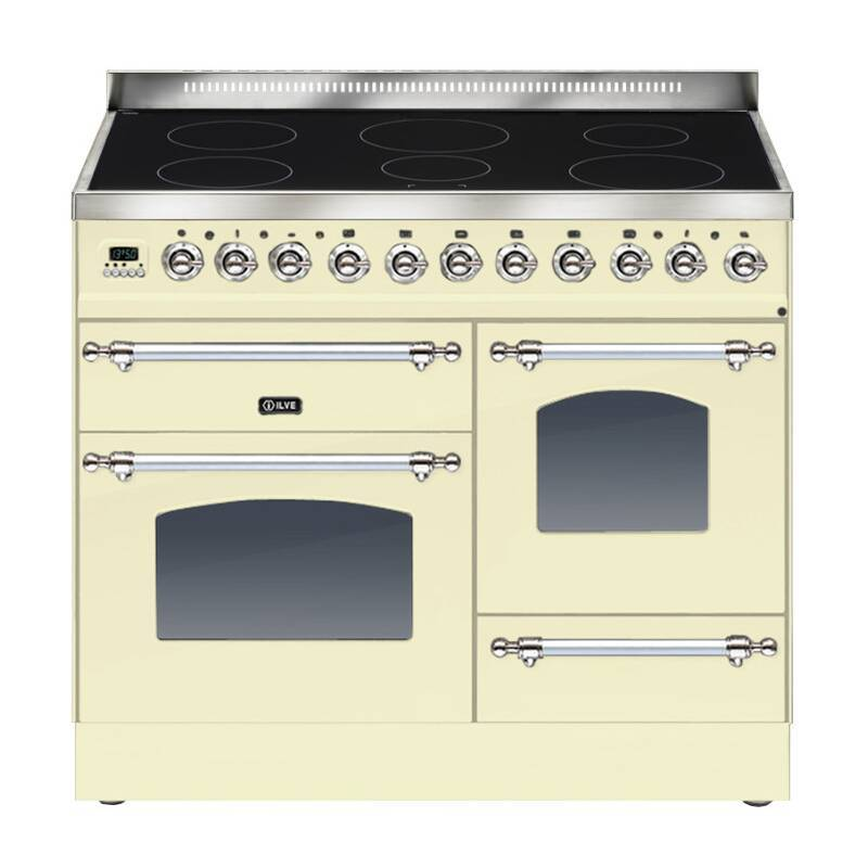 ILVE Milano 100cm XG Range Cooker 6 Zone Induction Cream Chrome primary image