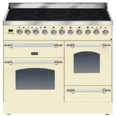 ILVE Milano 100cm XG Range Cooker 6 Zone Induction Cream Chrome - PTNI100E3/AX