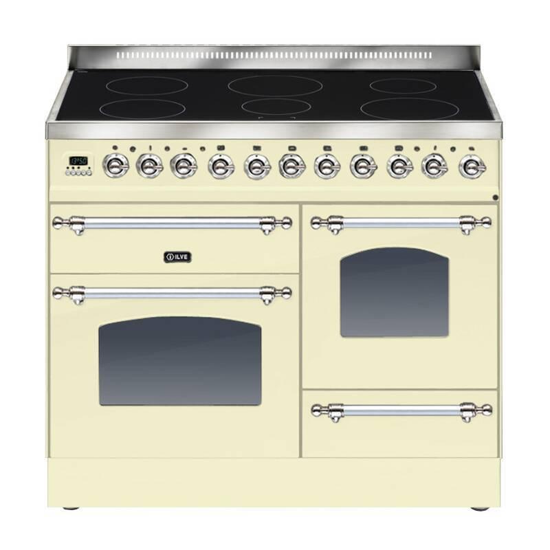 ILVE Milano 100cm XG Range Cooker 6 Zone Induction Cream Chrome - PTNI100E3/AX primary image