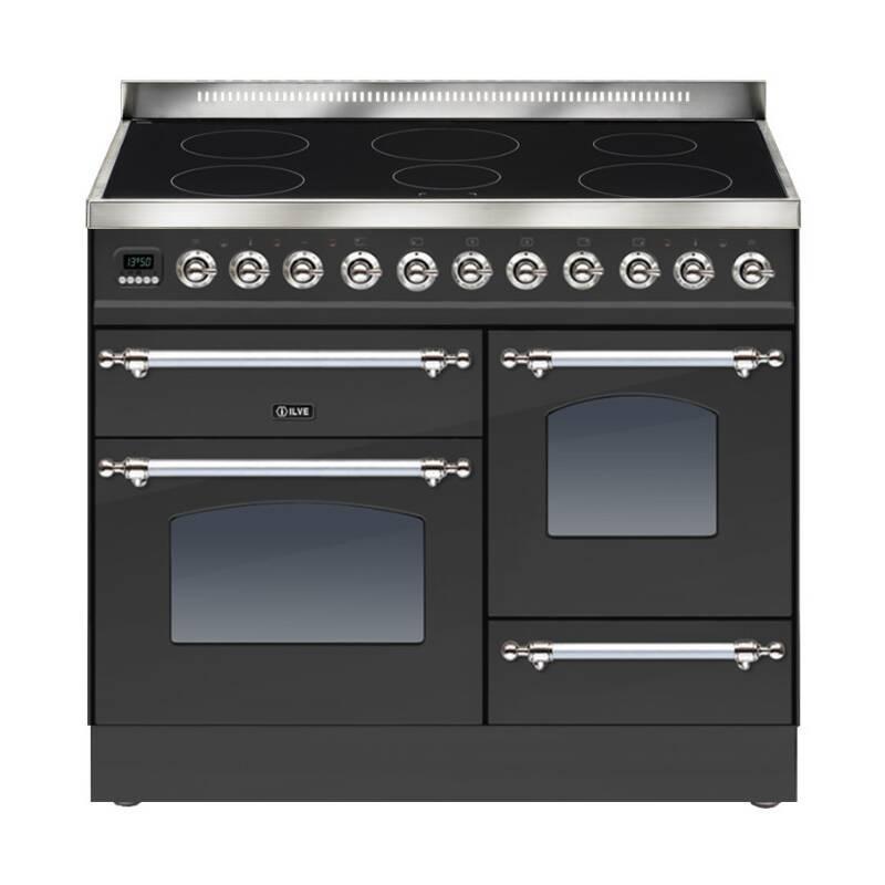 ILVE Milano 100cm XG Range Cooker 6 Zone Induction Matt Black Chrome primary image