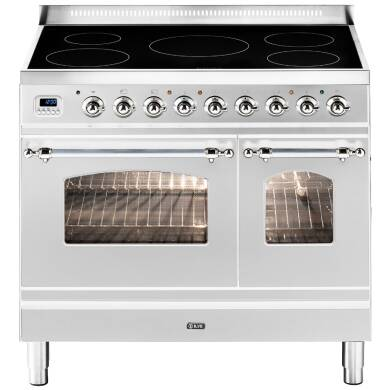 ILVE Milano 90cm Twin Range Cooker 5 Zone Induction Stainless Steel Chrome