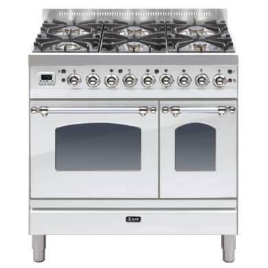 ILVE Milano 90cm Twin Range Cooker 6 Burner Stainless Steel Chrome