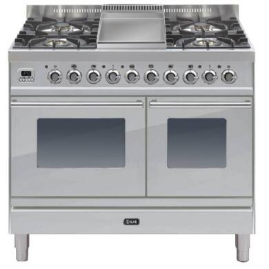 ILVE Roma 100cm Twin Range Cooker 4 Burner Fry Top Stainless Steel