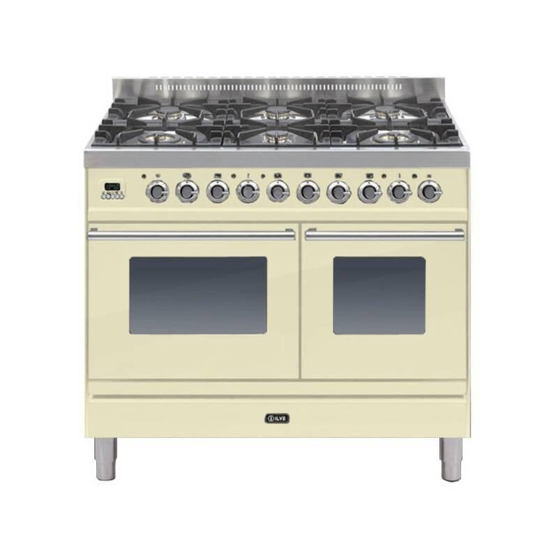 ILVE Roma 100cm Twin Range Cooker 6 Burner Cream - PDW1006E3/A primary image