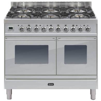 ILVE Roma 100cm Twin Range Cooker 6 Burner Stainless Steel