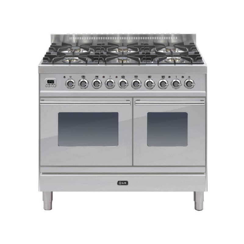ILVE Roma 100cm Twin Range Cooker 6 Burner Stainless Steel primary image