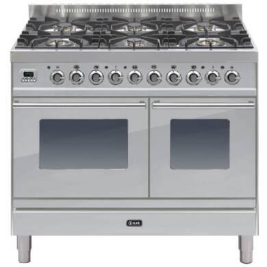 ILVE Roma 100cm Twin Range Cooker 6 Burner Stainless Steel - PDW1006E3/I