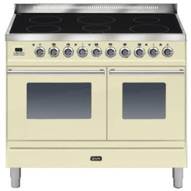 ILVE Roma 100cm Twin Range Cooker 6 Zone Induction Cream - PDWI100E3/A