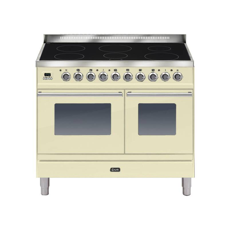 ILVE Roma 100cm Twin Range Cooker 6 Zone Induction Cream - PDWI100E3/A primary image