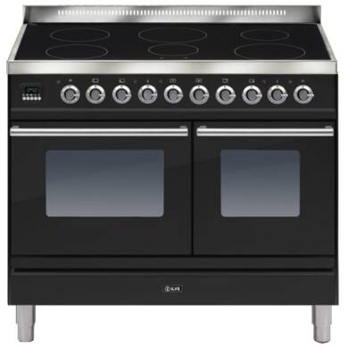 ILVE Roma 100cm Twin Range Cooker 6 Zone Induction Gloss Black