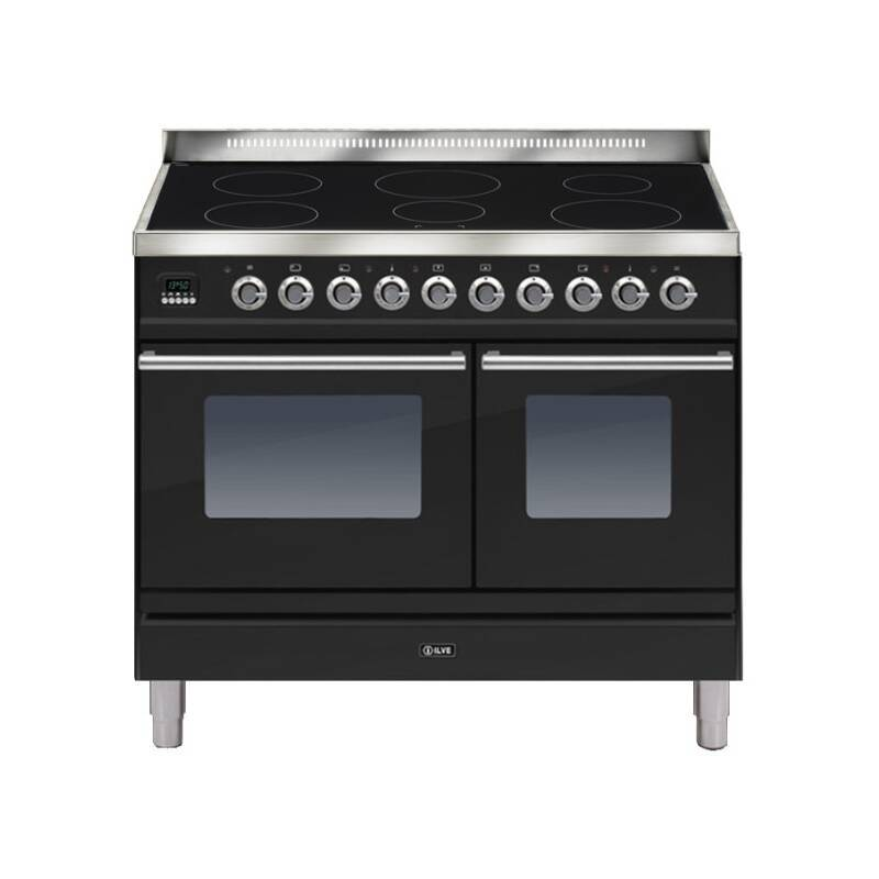 ILVE Roma 100cm Twin Range Cooker 6 Zone Induction Gloss Black primary image