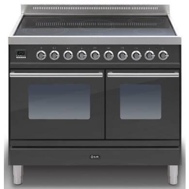ILVE Roma 100cm Twin Range Cooker 6 Zone Induction Matt Black - PDWI100E3/M