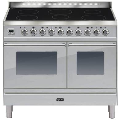 ILVE Roma 100cm Twin Range Cooker 6 Zone Induction Stainless Steel - PDWI100E3/I