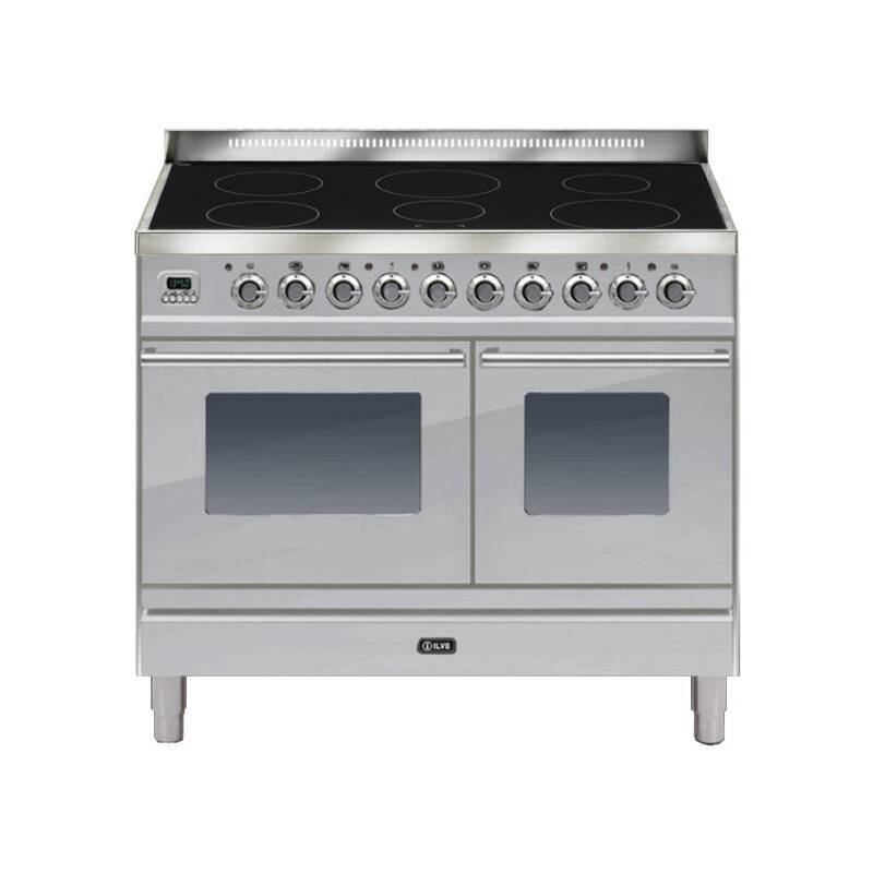 ILVE Roma 100cm Twin Range Cooker 6 Zone Induction Stainless Steel - PDWI100E3/I primary image