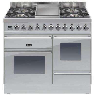 ILVE Roma 100cm XG Range Cooker  4 Burner Fry Top Stainless Steel - PTW100FE3/I