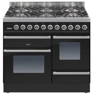 ILVE Roma 100cm XG Range Cooker 6 Burner Gloss Black - PTW1006E3/N