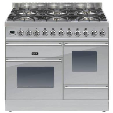 ILVE Roma 100cm XG Range Cooker 6 Burner Stainless Steel - PTW1006E3/I