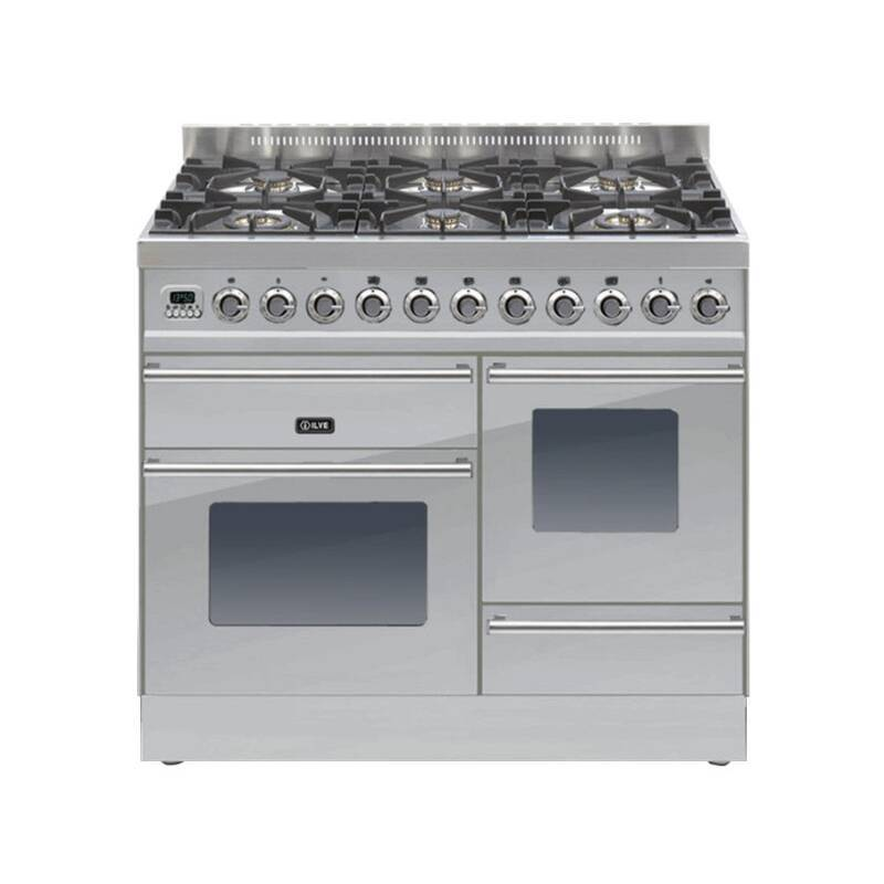ILVE Roma 100cm XG Range Cooker 6 Burner Stainless Steel - PTW1006E3/I primary image