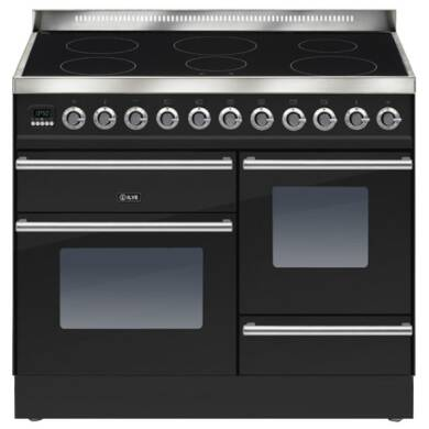 ILVE Roma 100cm XG Range Cooker  6 Zone Induction Gloss Black - PTWI100E3/N