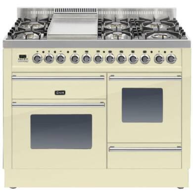 ILVE Roma 110cm XG Range Cooker  6 Burner Fry Top Cream