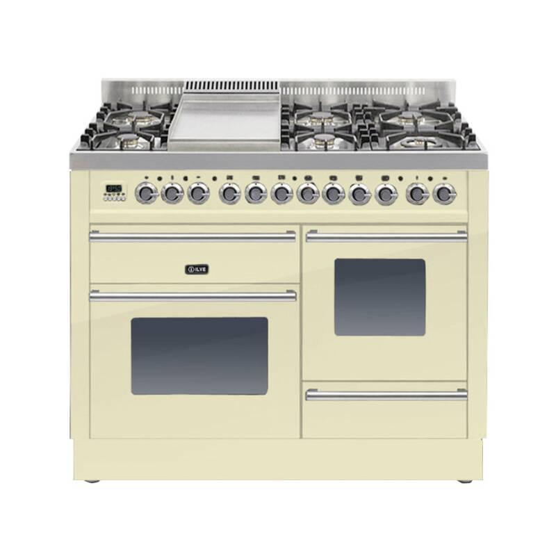 ILVE Roma 110cm XG Range Cooker  6 Burner Fry Top Cream primary image