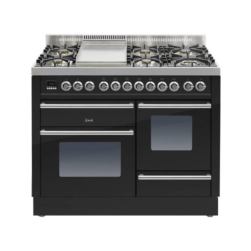 ILVE Roma 110cm XG Range Cooker  6 Burner Fry Top Gloss Black primary image