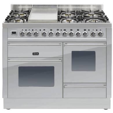 ILVE Roma 110cm XG Range Cooker  6 Burner Fry Top Stainless Steel - PTW110FE3/I