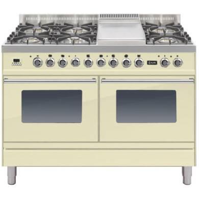 ILVE Roma 120cm Range Cooker  6 Burner Fry Top Cream - PDW120FE3/A