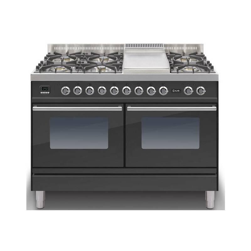 ILVE Roma 120cm Range Cooker  6 Burner Fry Top Matt Black - PDW120FE3/M primary image