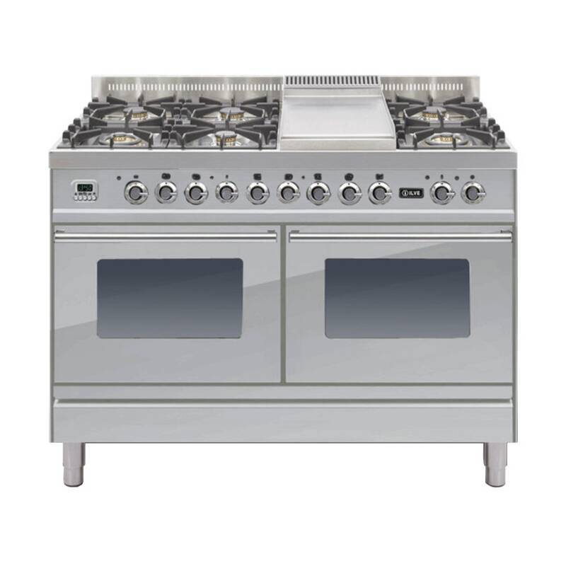 ILVE Roma 120cm Range Cooker 6 Burner Fry Top Stainless Steel - PDW120FE3/I primary image