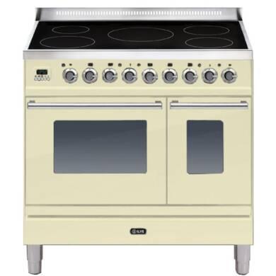 ILVE Roma 90cm Twin Range Cooker 5 Zone Induction Cream