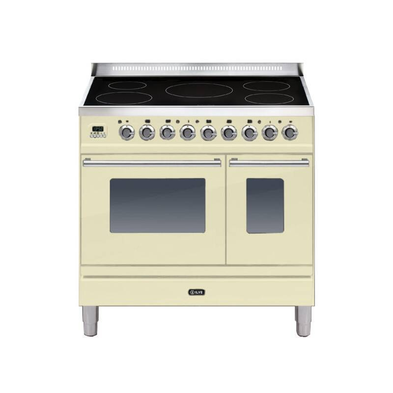 ILVE Roma 90cm Twin Range Cooker 5 Zone Induction Cream primary image