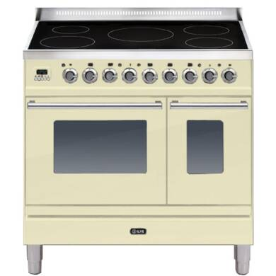 ILVE Roma 90cm Twin Range Cooker 5 Zone Induction Cream - PDWI90E3/A