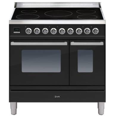 ILVE Roma 90cm Twin Range Cooker 5 Zone Induction Gloss Black