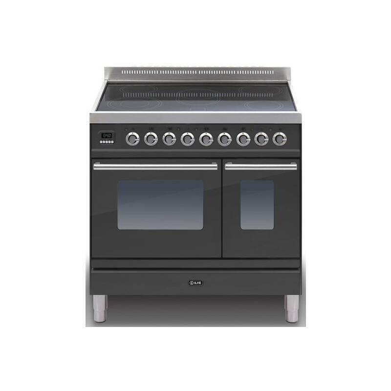 ILVE Roma 90cm Twin Range Cooker 5 Zone Induction Matt Black primary image