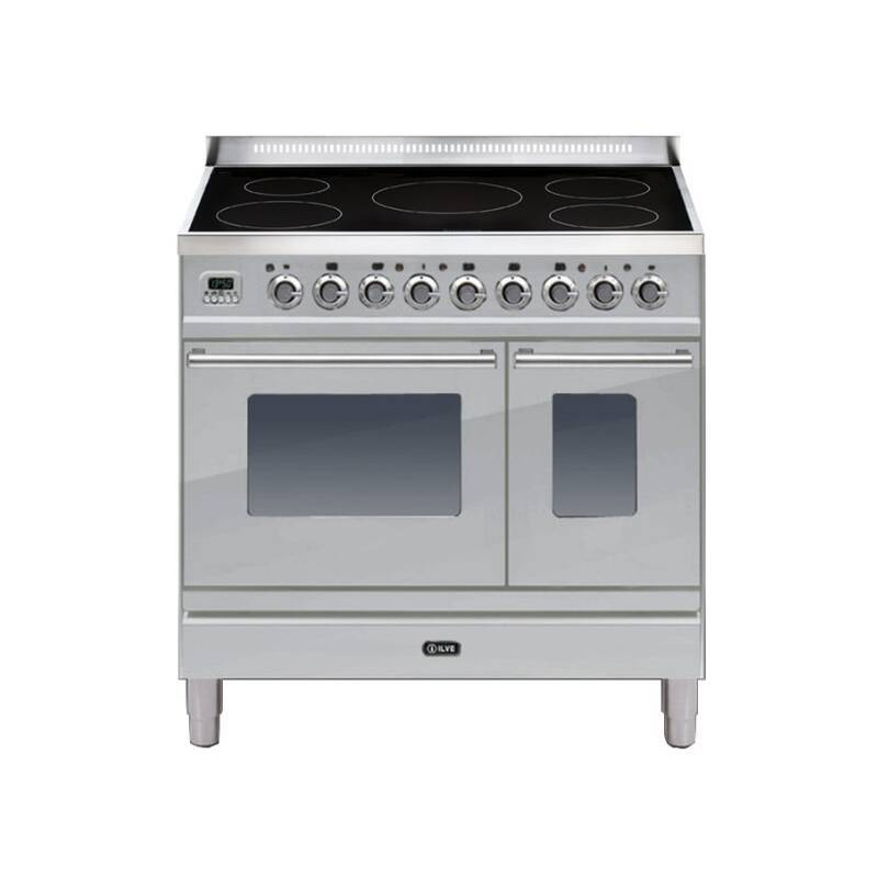 ILVE Roma 90cm Twin Range Cooker 5 Zone Induction Stainless Steel primary image