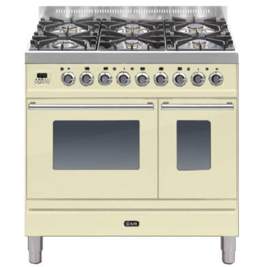 ILVE Roma 90cm Twin Range Cooker 6 Burner Cream
