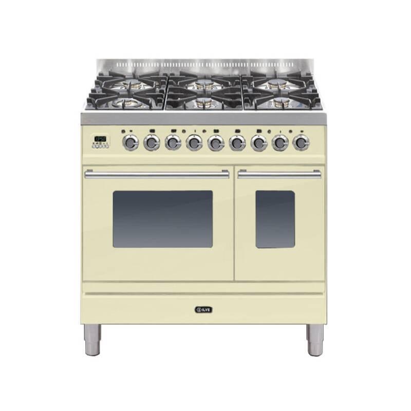ILVE Roma 90cm Twin Range Cooker 6 Burner Cream - PDW906E3/A primary image