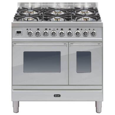 ILVE Roma 90cm Twin Range Cooker 6 Burner Stainless Steel