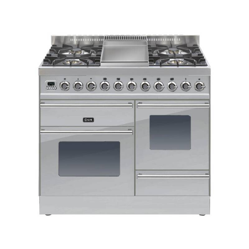 ILVE Roma Dual Fuel 100 4 Burner Fry Top S/Steel primary image