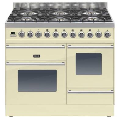 ILVE Roma Dual Fuel 100 6 Burner Cream