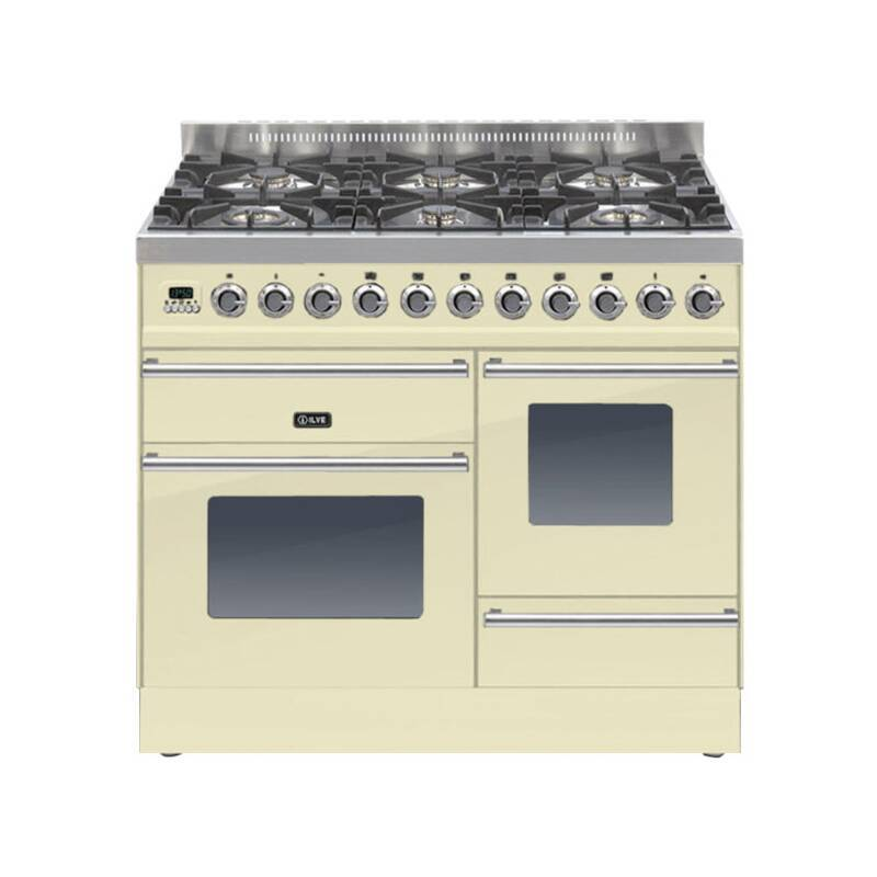 ILVE Roma Dual Fuel 100 6 Burner Cream primary image