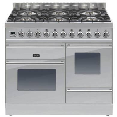 ILVE Roma Dual Fuel 100 6 Burner S/Steel