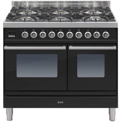 ILVE Roma Dual Fuel 100 Twin 6 Burner Black Gl