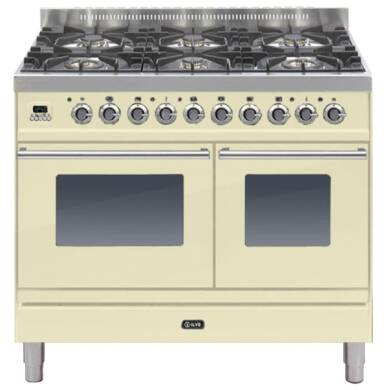 ILVE Roma Dual Fuel 100 Twin 6 Burner Cream