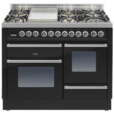 ILVE Roma Dual Fuel 110 6 Burner Fry Top Black Gl